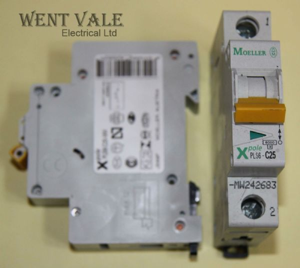 Moeller X Pole - PLS6-C25-MW - 25a Type C Single Pole MCB New